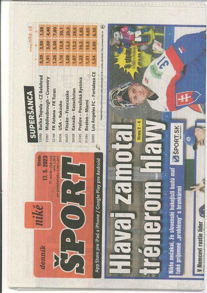 1f3899356 Denník Šport - jediný športový denník na Slovensku, každodenné informácie  zo sveta športu.